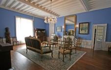 Blauwe salon
