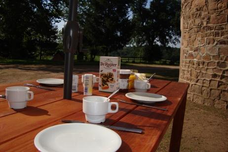 Ontbijten in de open lucht