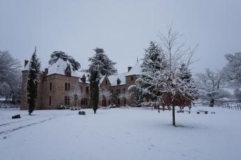 Winterkleed op het kasteel